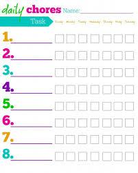 Prototypic Free Printable Toddler Chore Chart Printable