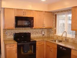 photo gallery of kitchen backsplashes. brown kitchen backsplash with glass tiles photo gallery of backsplashes l