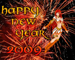 happy new year 2009.  Year Happy New Year 2009 By Lhugion  With 0