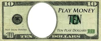 Money Bill Template Play Money Template Play Money Templates Free Customizable