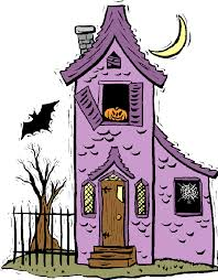 Drawn haunted house purple #1