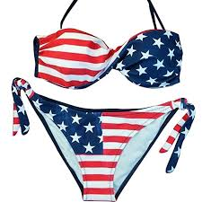 Mysky Women's Fashion <b>Summer Sexy</b> American Flag <b>Print Push</b> ...