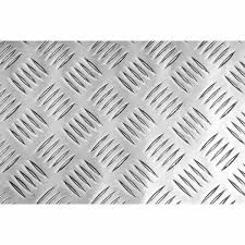 Aluminium Chequer Plate 2500 X 1250x3mm Five Bar Pattern 3mm