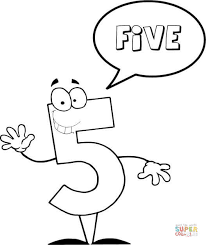 Small Picture Number 3 Says THREE coloring page Free Printable Coloring Pages