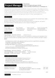Resume Sample Project Management Resume Samples Free Project
