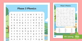 Phonics worksheet makers, worksheet templates, reading worksheets, phonics exercises to print. Phase 3 Phonics Word Search Primary Resources