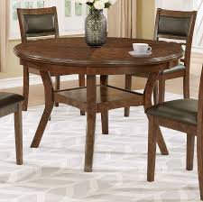brown traditional round dining table cally