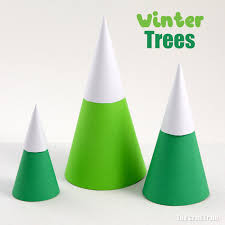 Winter Tree Template Winter Trees Paper Craft The Craft Train