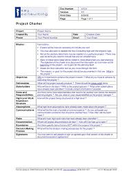 Project Management Charter Template Project Charter Template