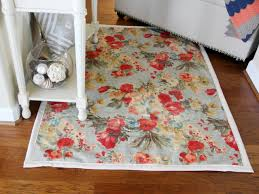 Fabric Rug Diy How To Make A Rug From Upholstery Fabric How Tos Diy