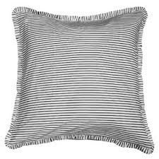 black and white euro sham. Simple Sham Ruffled Ticking Euro To Black And White Sham O