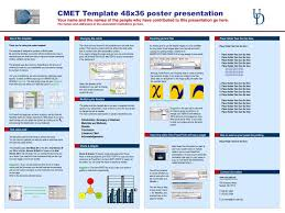 Powerpoint Poster Presentation Ppt Cmet Template 48x36 Poster Presentation Powerpoint