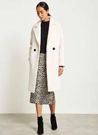 cream double ted coat