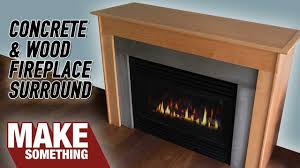 how to make a fireplace surround with concrete wood