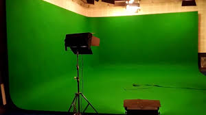 studio lighting in green chroma studio for tv shoot hindi