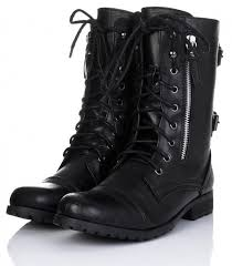 black leather biker boots for men and women