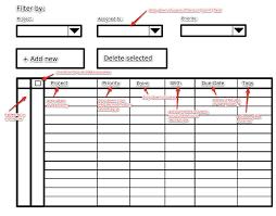 Meta Design Ui Mockup For Case Tracker Timeline Grid