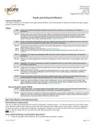 Trade And Cultural Diffusion
