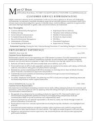 Customer Service Representative Resume Objective By Mary Obrien Free