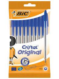 <b>Ручка шариковая BIC</b> Cristal синяя, 10 штук <b>BIC</b> 666143 в ...