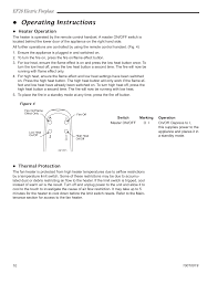 operating instructions ef28 electric fireplace cfm corporation ef28 user manual page 10 16