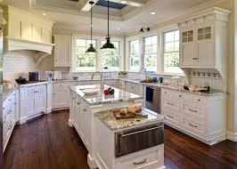 kitchen white spanish kitchen design with wooden floor 25