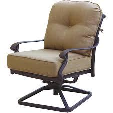 Darlee santa monica cast aluminum patio swivel rocker club chair bbq guys