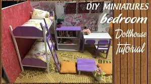 build dollhouse furniture. DIY Dollhouse Miniature Bedroom Tutorial | Furniture Set FULL Video N\u0026L Build