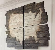 planked usa wall art panels pottery barn  on rustic wood panel wall art with usa wall decor kemist orbitalshow