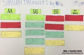 similar triangles cut and paste activity mrseteachesmath spot