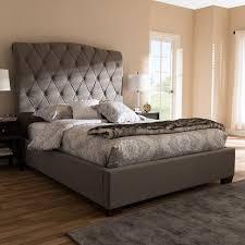 Upholstered sleigh bed frame Luxury Walmart Everly Quinn Leavy Upholstered Sleigh Bed Walmartcom