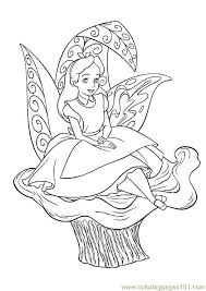Small Picture Alice In Wonderland Coloring Page Free Alice in Wonderland