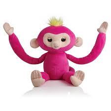 Fingerlings HUGS - Bella - Friendly Interactive Plush Monkey - Pink ...