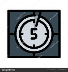Video Countdown Timer Vector Illustration White Background