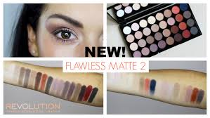 makeup revolution flawless matte 2 swatches and tutorial