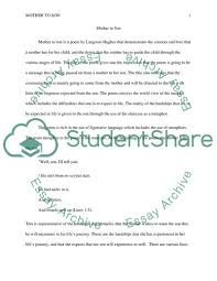 Mother To Son By Langston Hughes Poetry Analysis Essay