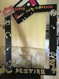 diy photo booth frame prop awesome 90 s birthday diy picture frame booth frame hip hop