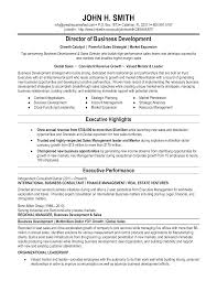 Director Of Development Resumes Business Development Director Resume Templates At