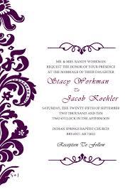 Formal Invitation Templates Wedding Wording Examples Meeting
