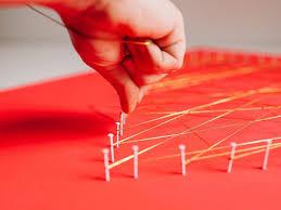 Modern String Art Heart | HGTV
