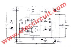 12 to 24 volt dc converter circuits electronic projects circuits circuit diagram of dc to dc step up converter using tda2004