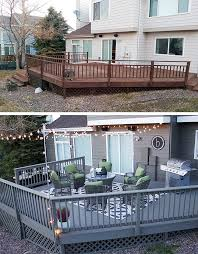 outdoor patio deck paint. deck decorating ideas: fresh paint and string lights outdoor patio n
