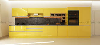 Mat Interior Design Dlife Mat A Gorgeous Straight Kitchen In Marie Gold Theme
