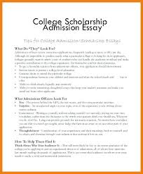 Essay For College Scholarship Examples College Scholarship College
