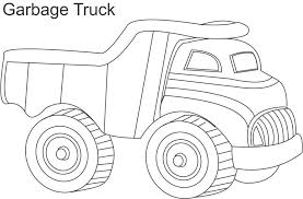Small Picture Garbage truck coloring page for kids