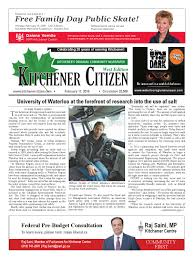 Small Business Centre Kitchener Kitchener Citizen West Edition February 2016 By Kitchener