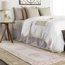 Fontanne Pink/White Area Rug