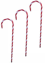 Plastic Candy Cane Decorations Large 100 Plastic Candy Cane Lawn Decoration for Christmas 72