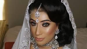 real bride halo smokey eyes and lipstick asian bridal hair and makeup you
