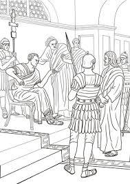 Jezus Voor Pilatus Kleurplaat Gratis Kleurplaten Printen